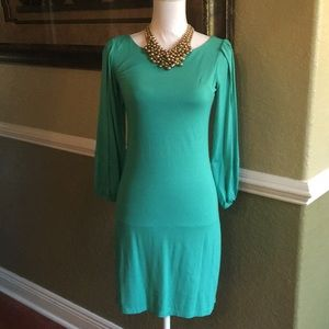 CYNTHIA ROWLEY Green Party Dress